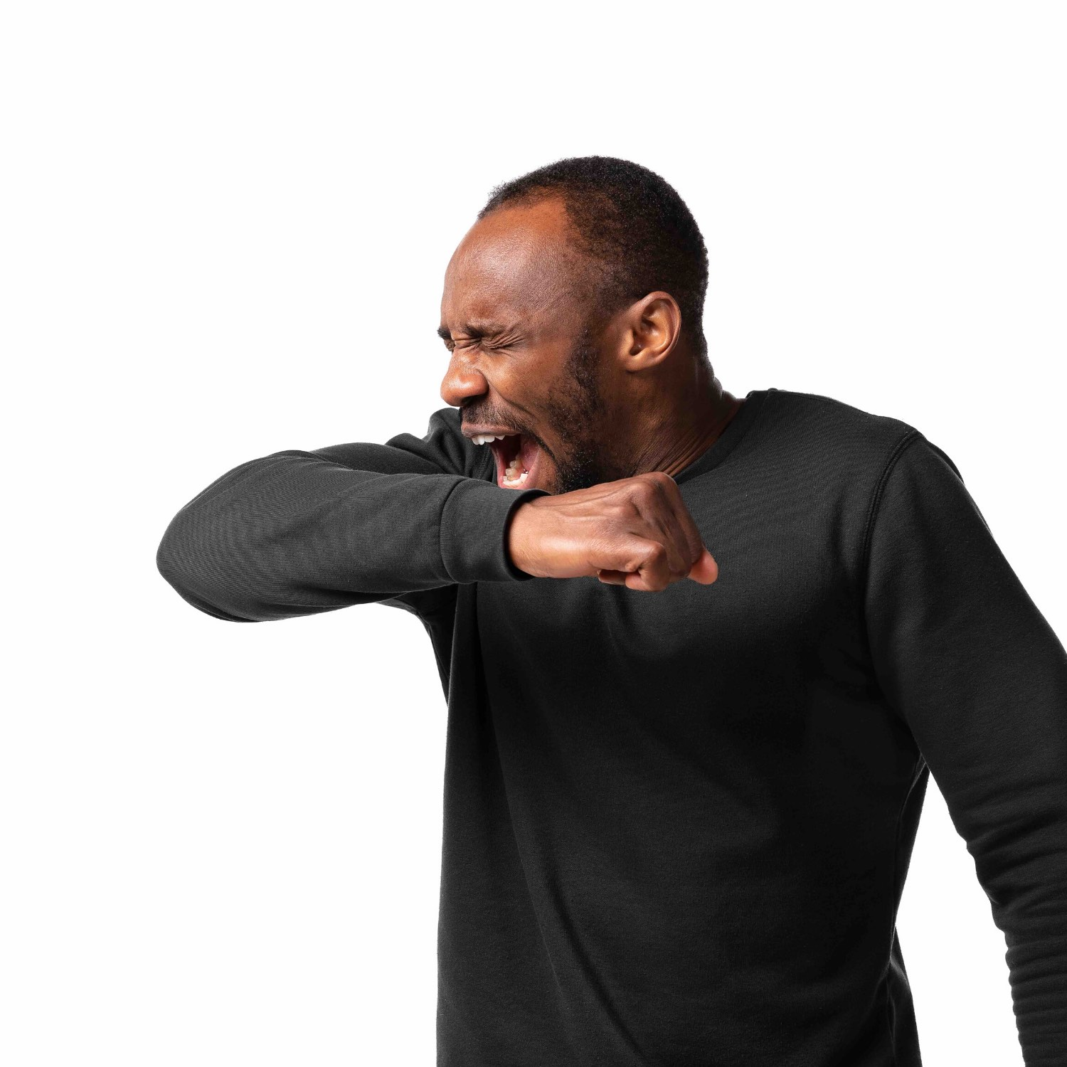 Remember that coughing and sneezing spreads the virus. So if you need to cough or sneeze, use a tissue or do it into your elbow.