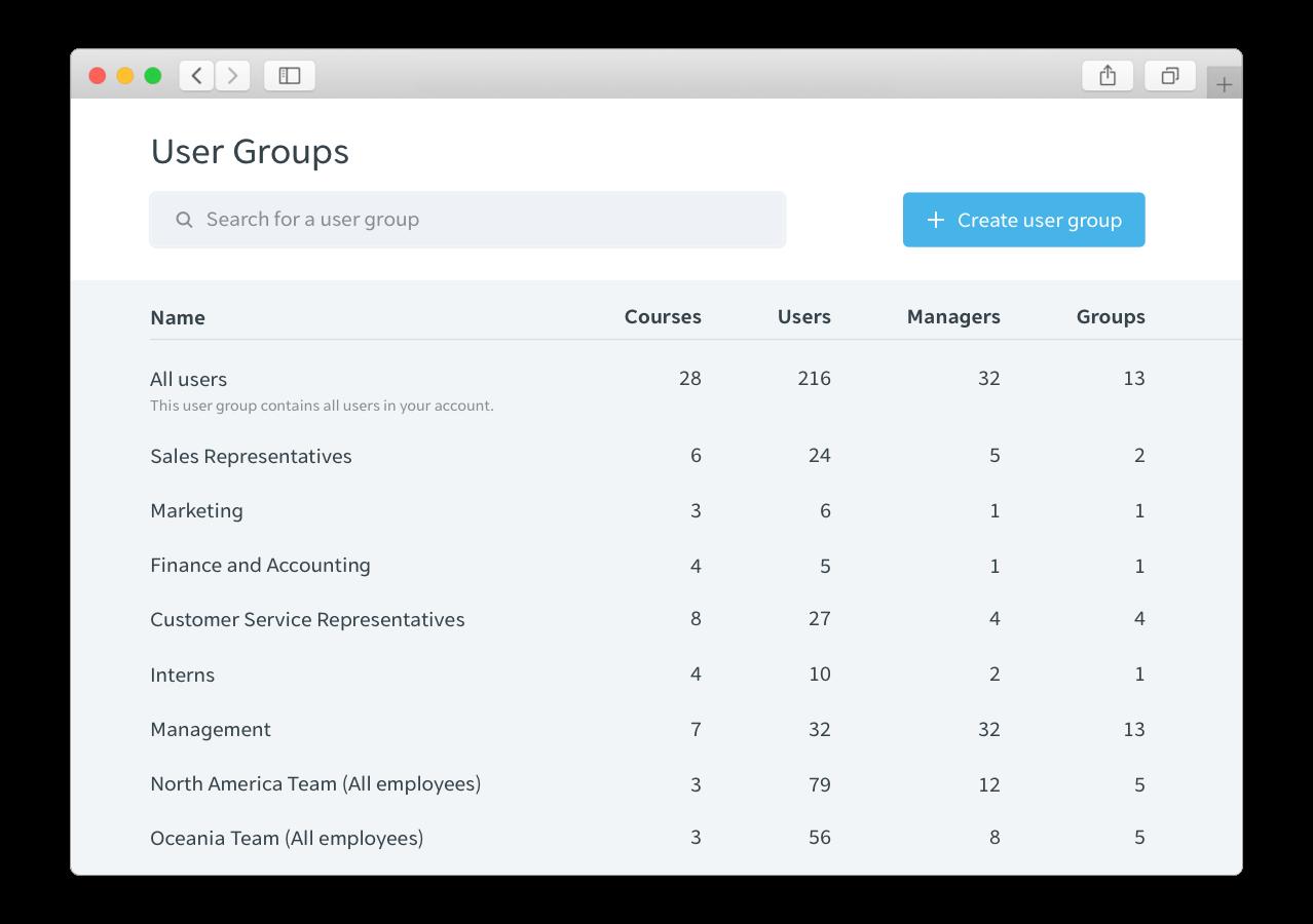 Easy segmentation for different user needs