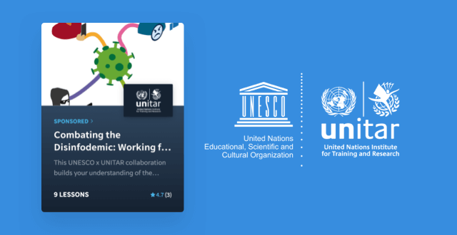 UNESCO and UNITAR launch free EdApp course: Combating the Disinfodemic