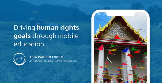 Asia Pacific Forum selects EdApp to help drive human rights goals through mobile education