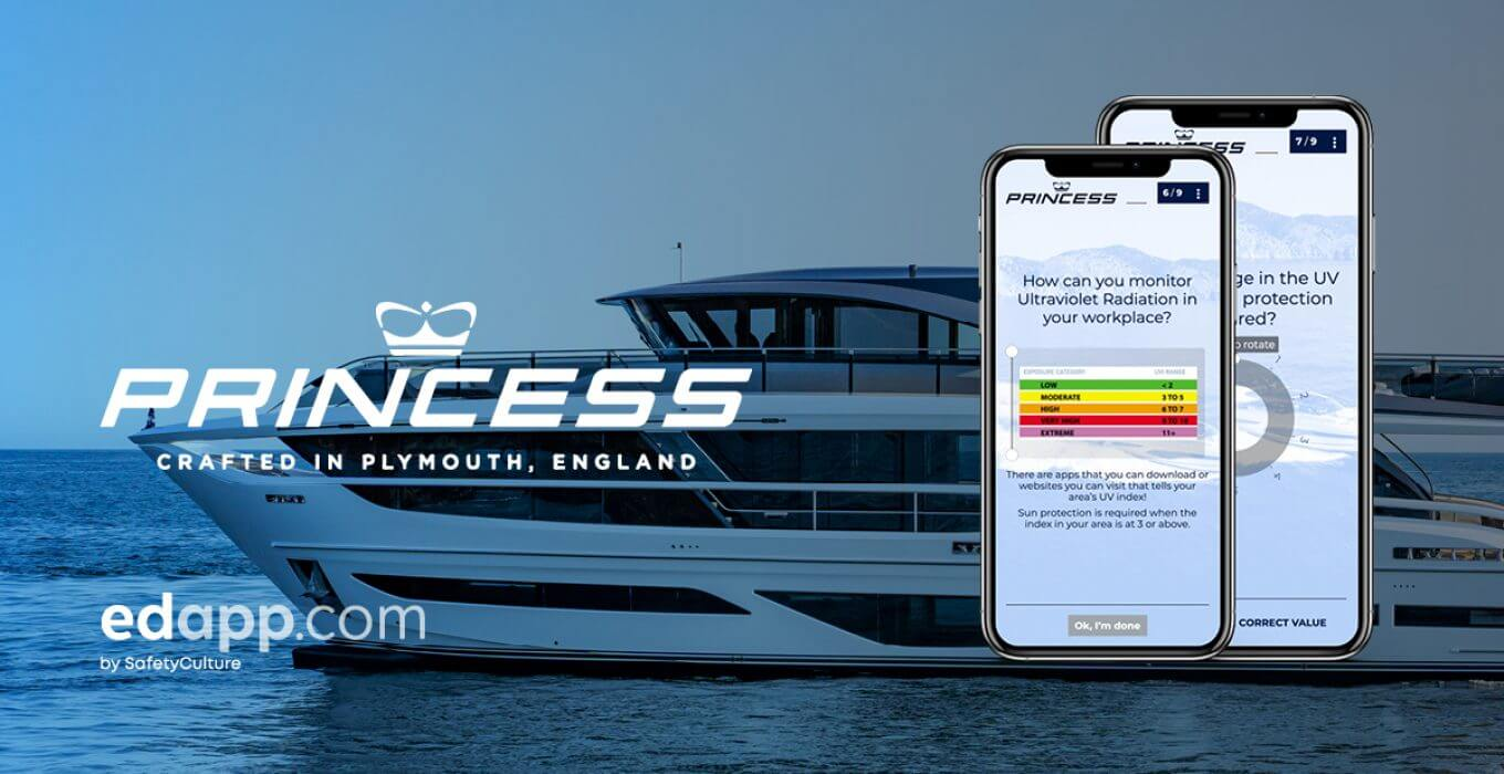 Princess Yachts, leading luxury yacht manufacturer, implements EdApp to train globally dispersed audience