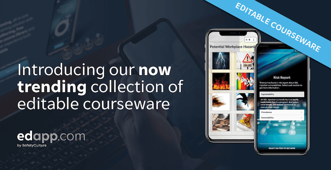 Now trending: New courses added to our editable library