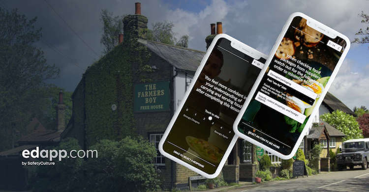 Number one pub, The Farmer's Boy, challenges traditional training methods with EdApp