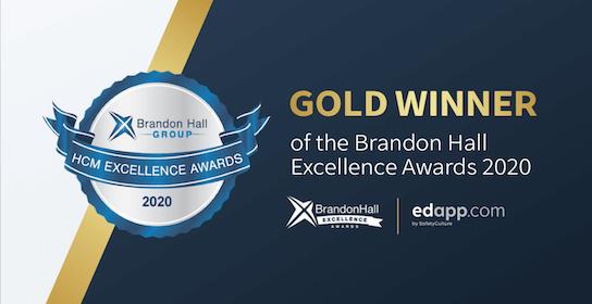 EdApp and Colgate-Palmolive win the Brandon Hall Excellence Award 2020