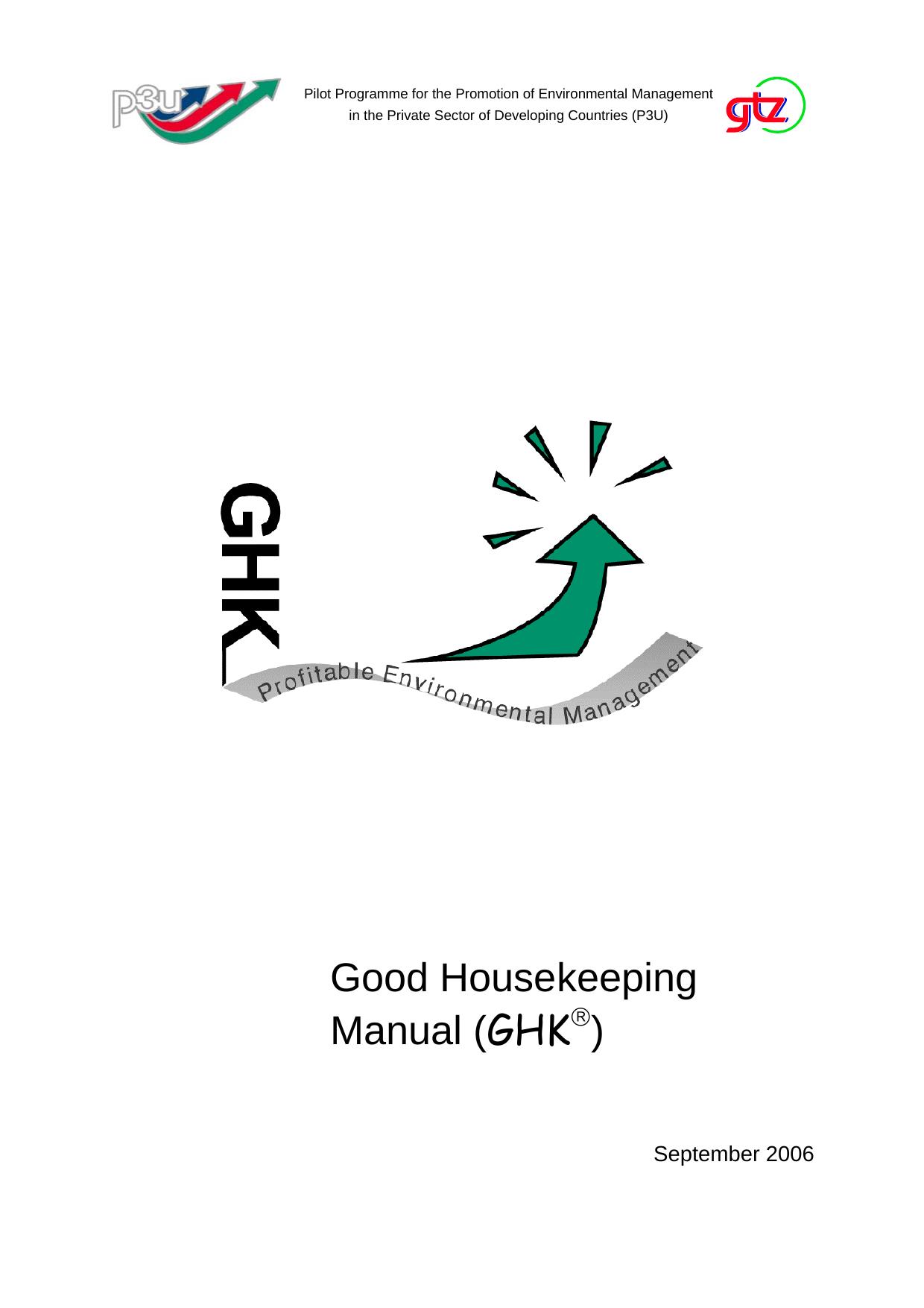 Good Housekeeping Manual