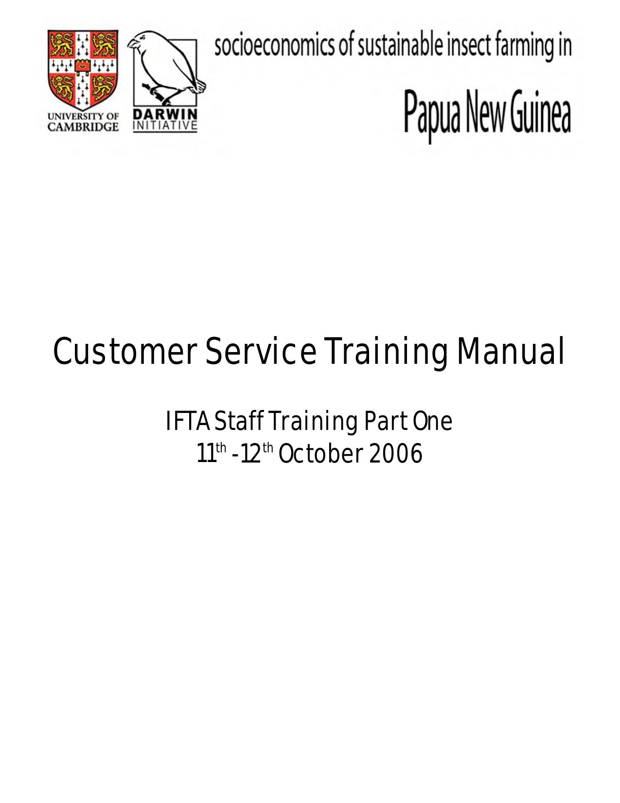 Customer Service Training Manual