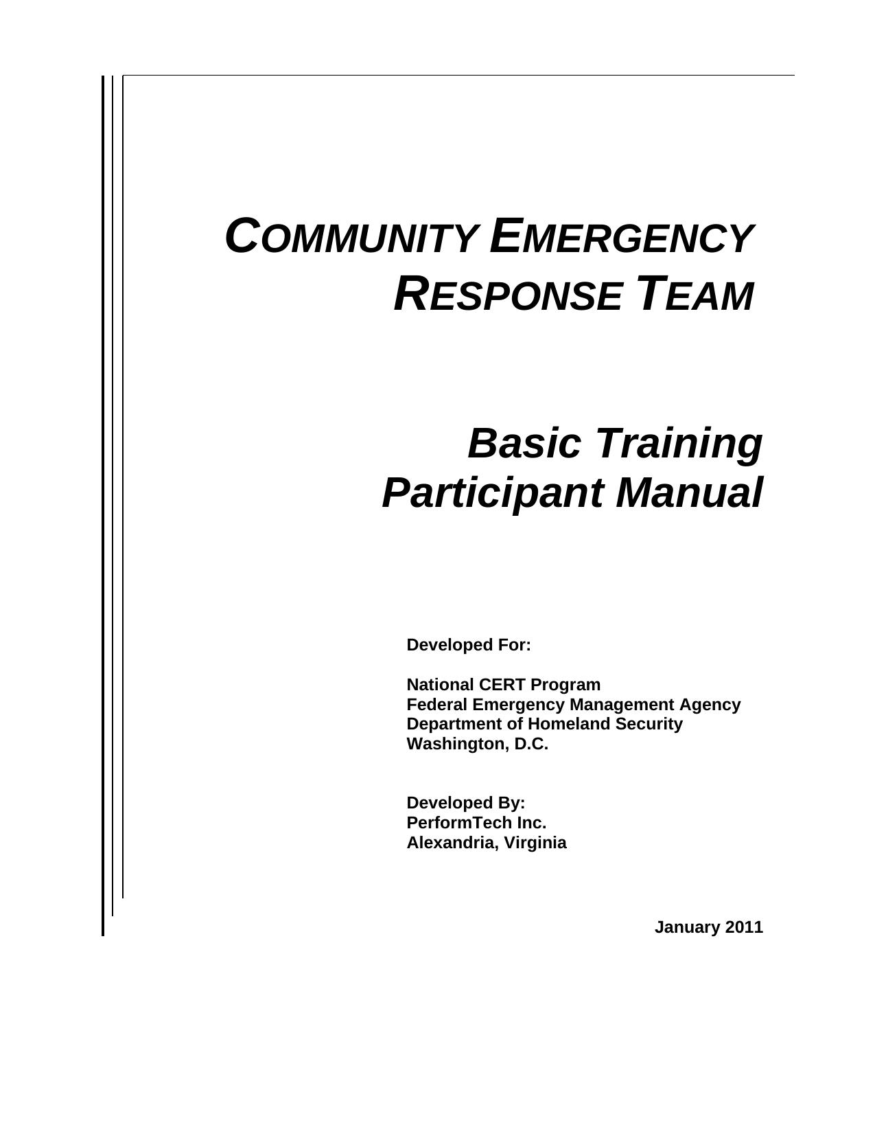 Cert Basic Training Participant Manual