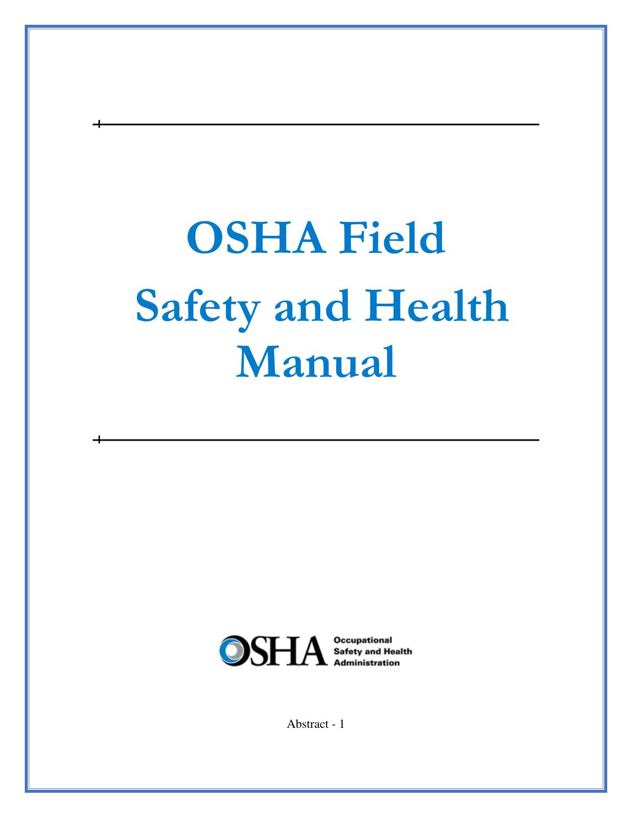 Osha Field Safety And Health Manual