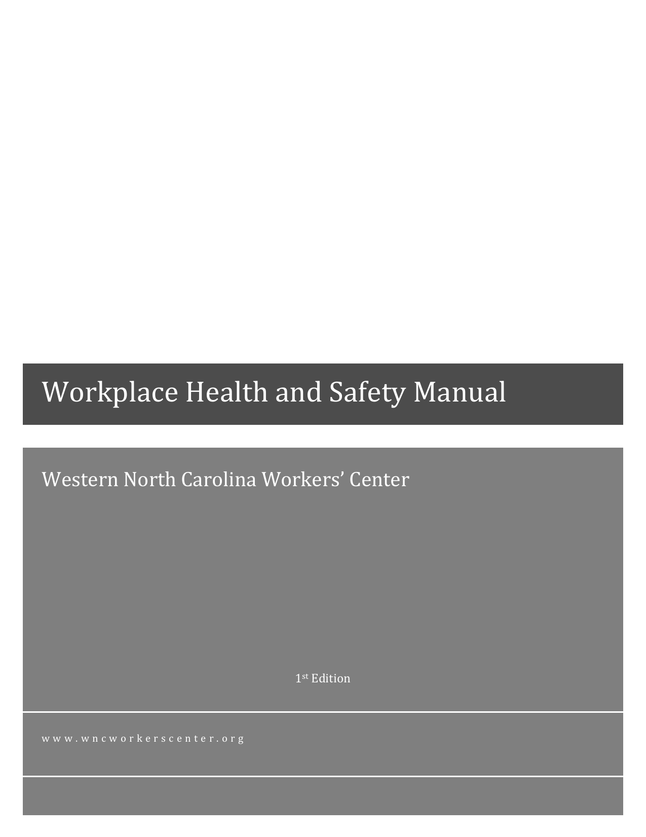 Workplace Health And Safety Manual