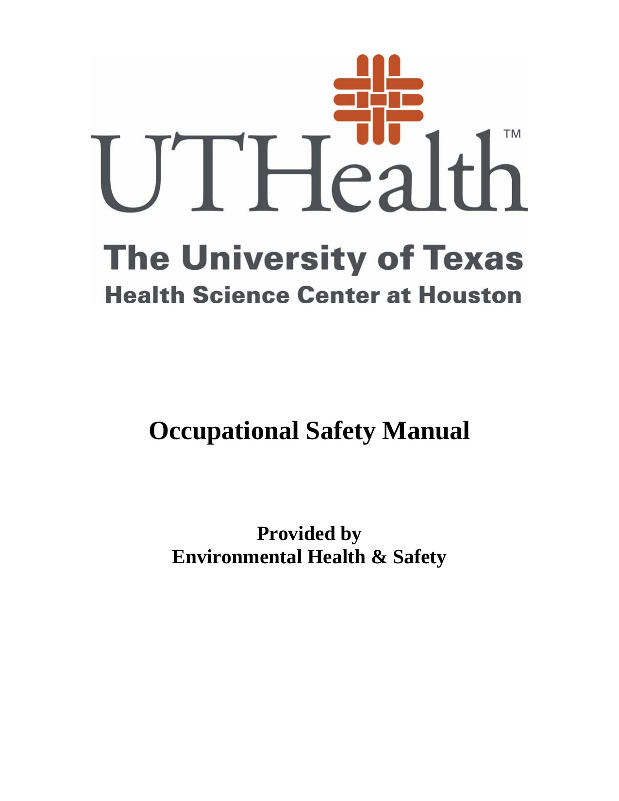 Occupational Safety Manual