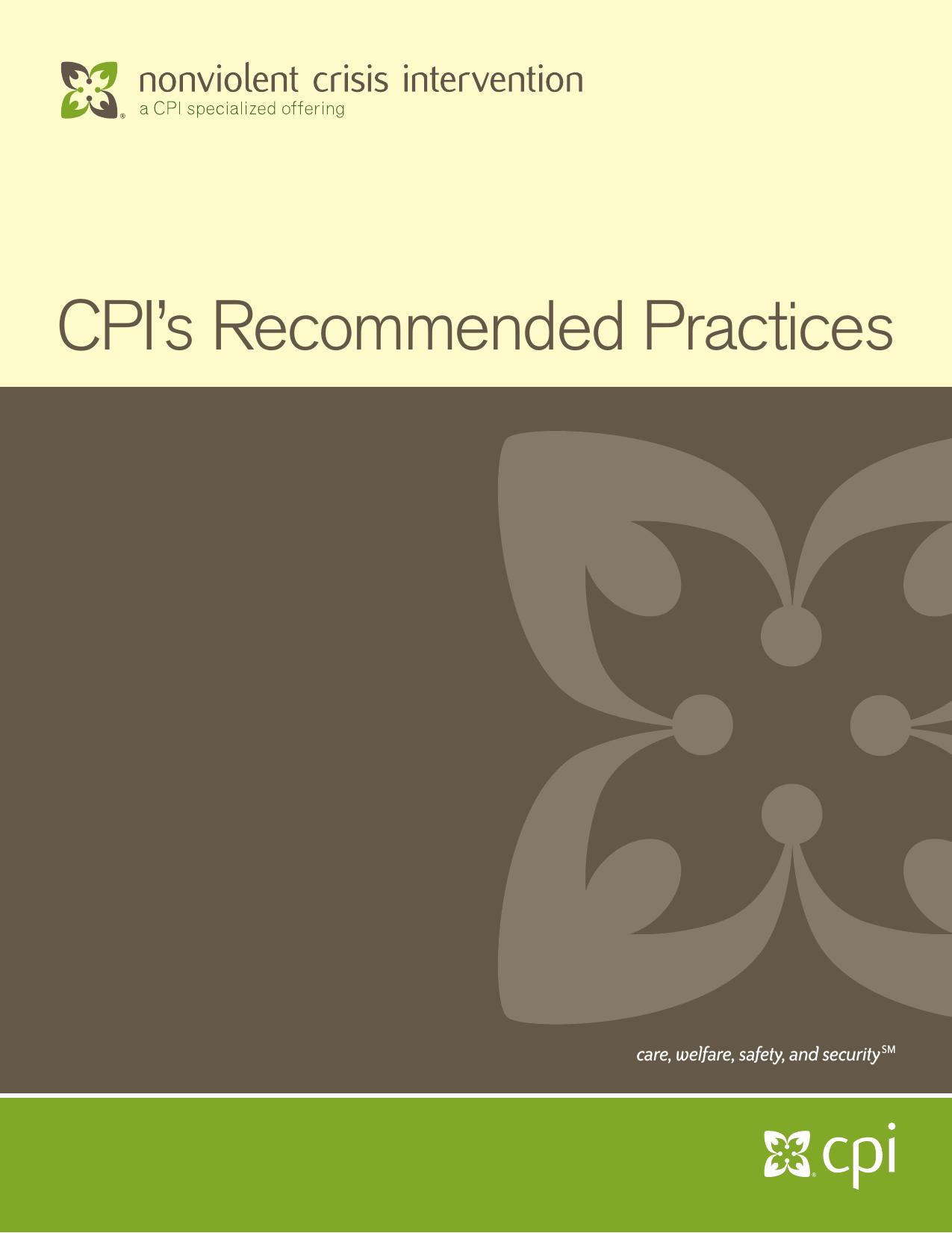 Nonviolent Crisis Intervention Instructor Manual