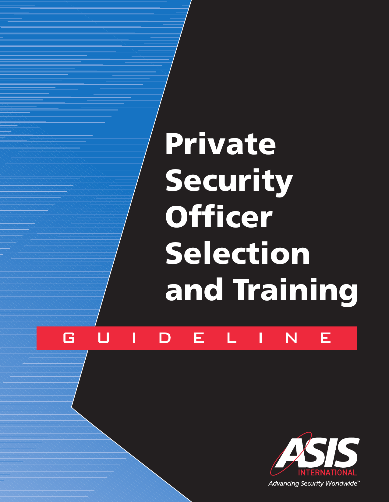Private Security Officer Selection And Training