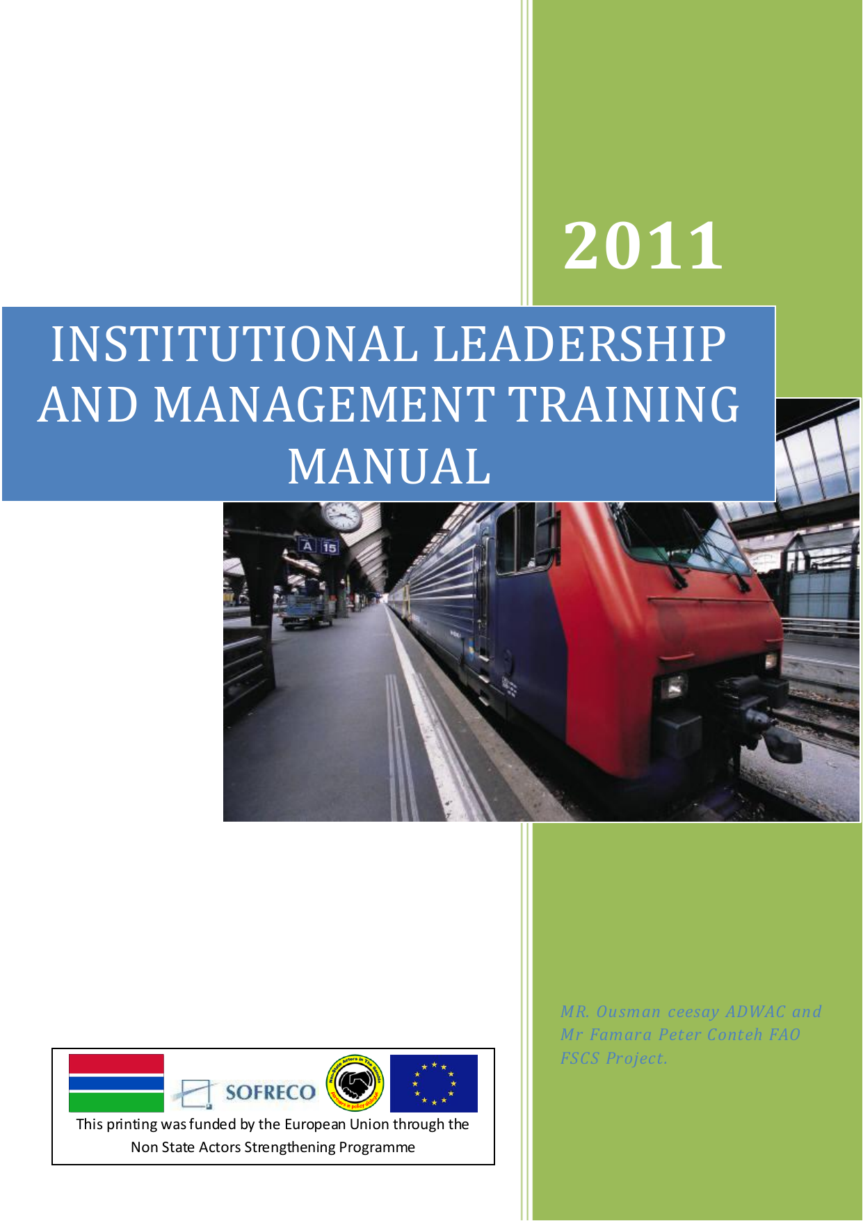 Institutional Leadership And Management