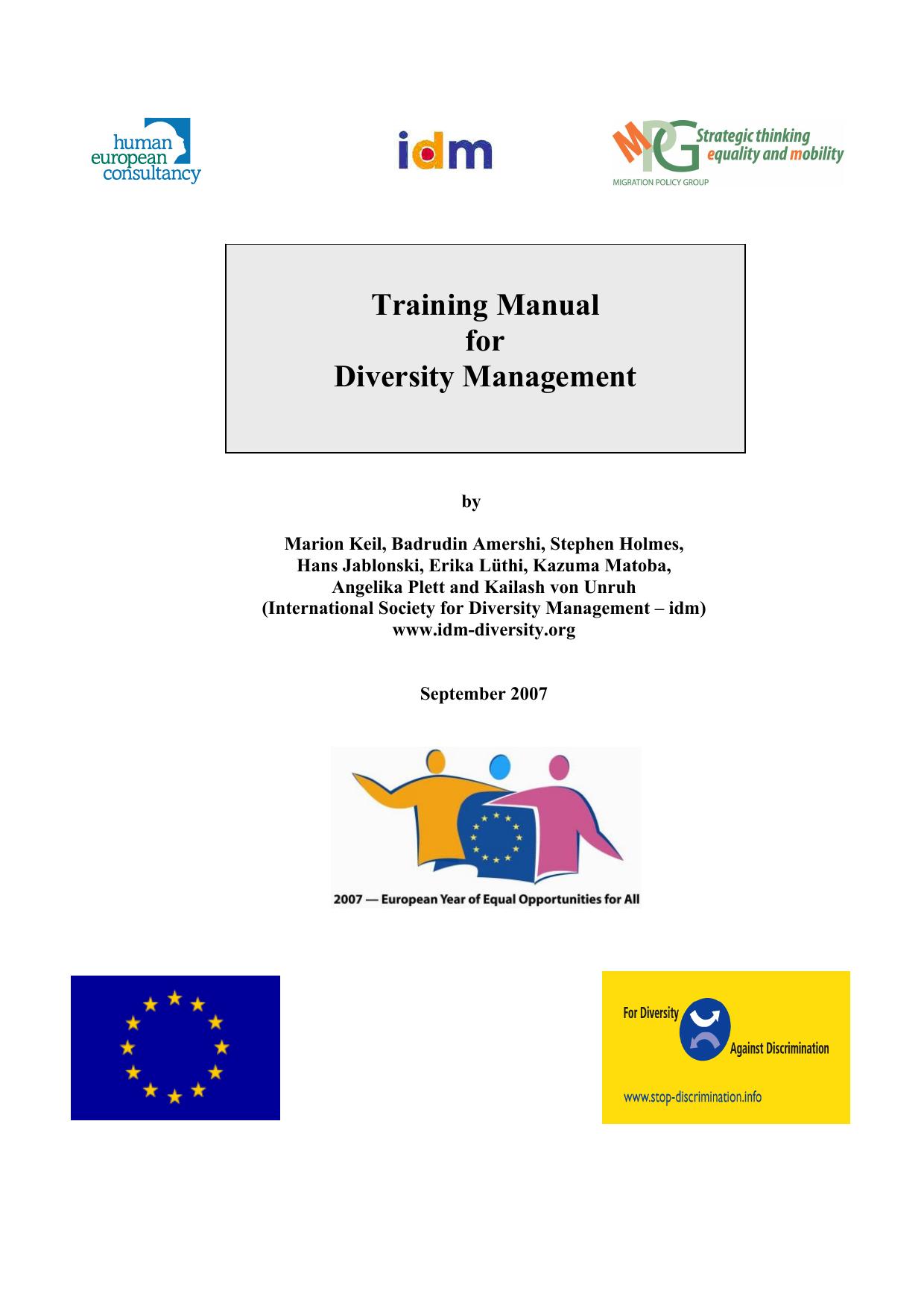 Training Manual Diversity Manual