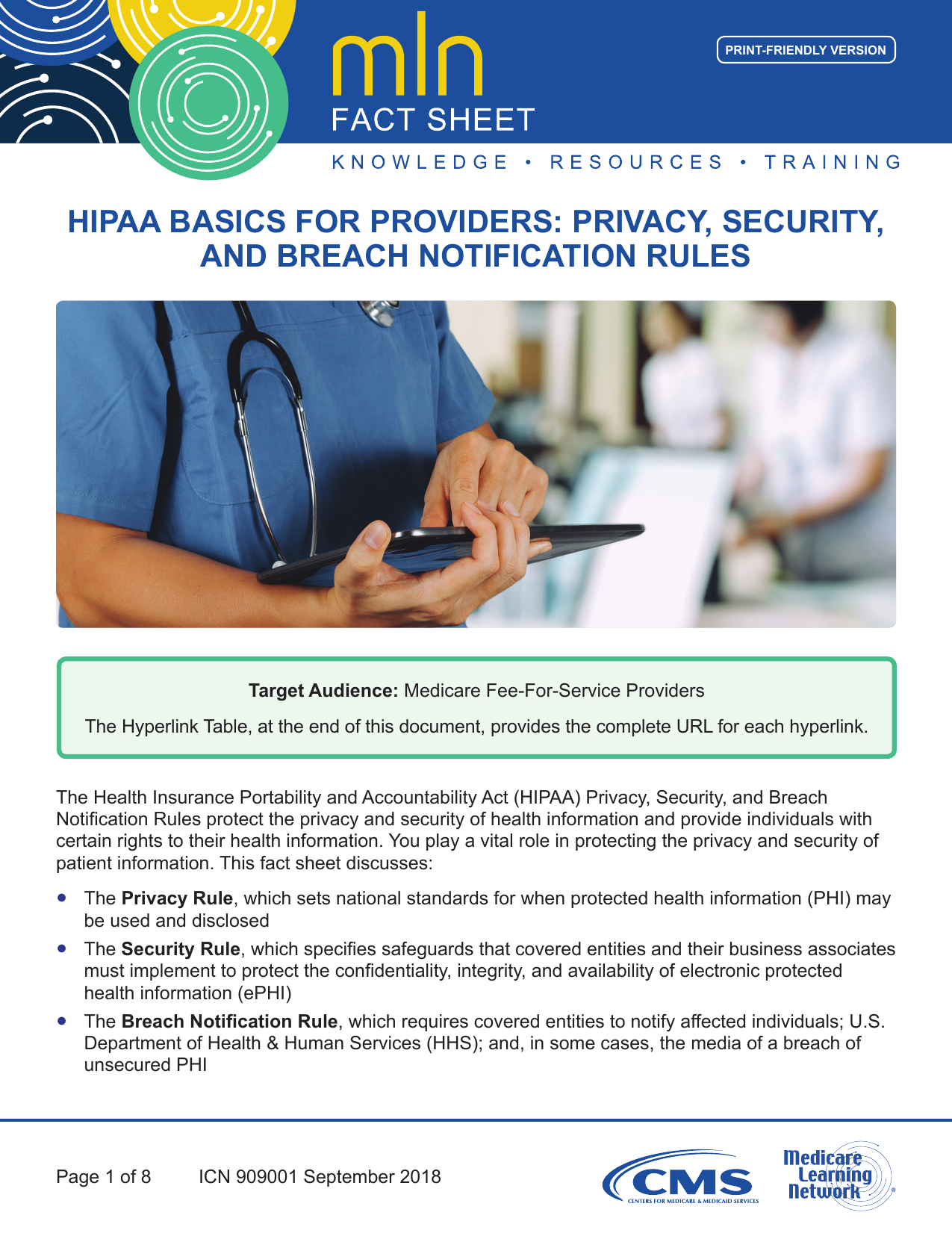 Hipaa Basics For Providers: Privacy, Security, And