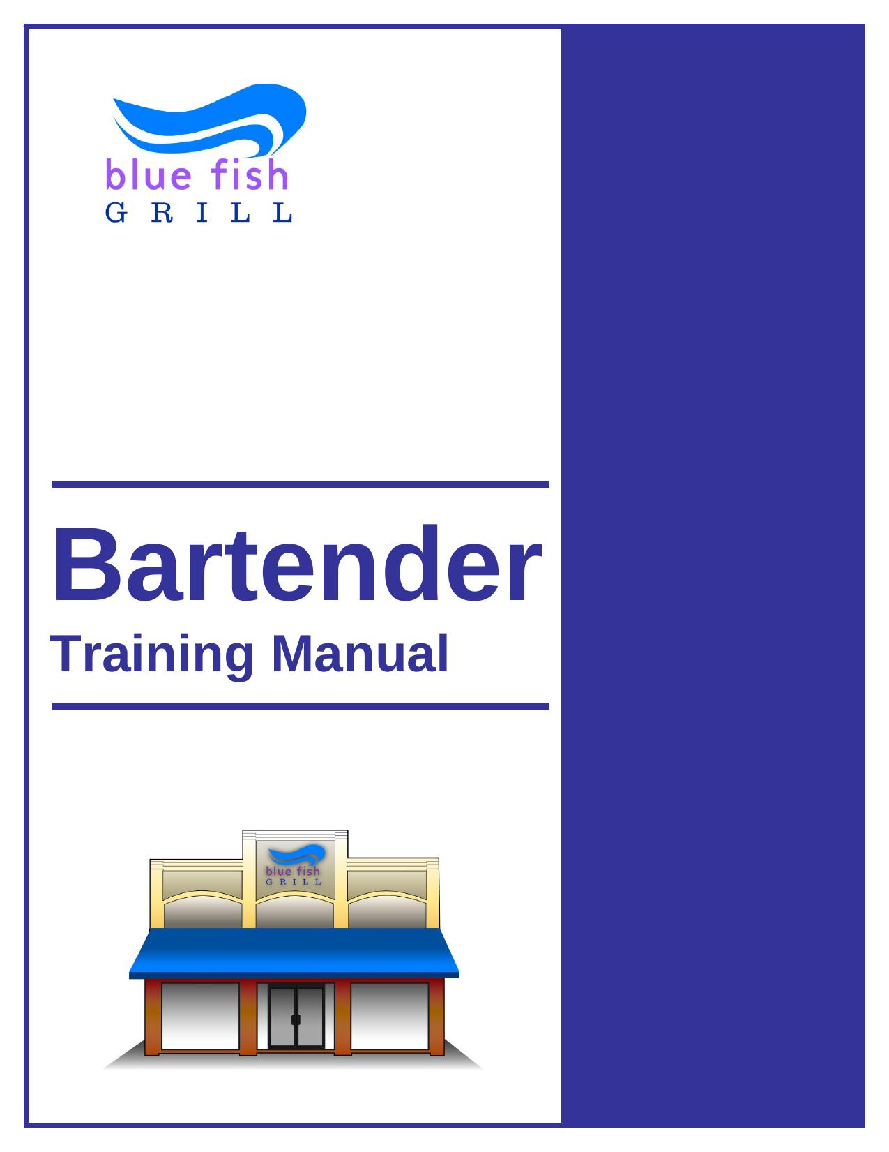 Bartender Training Manual