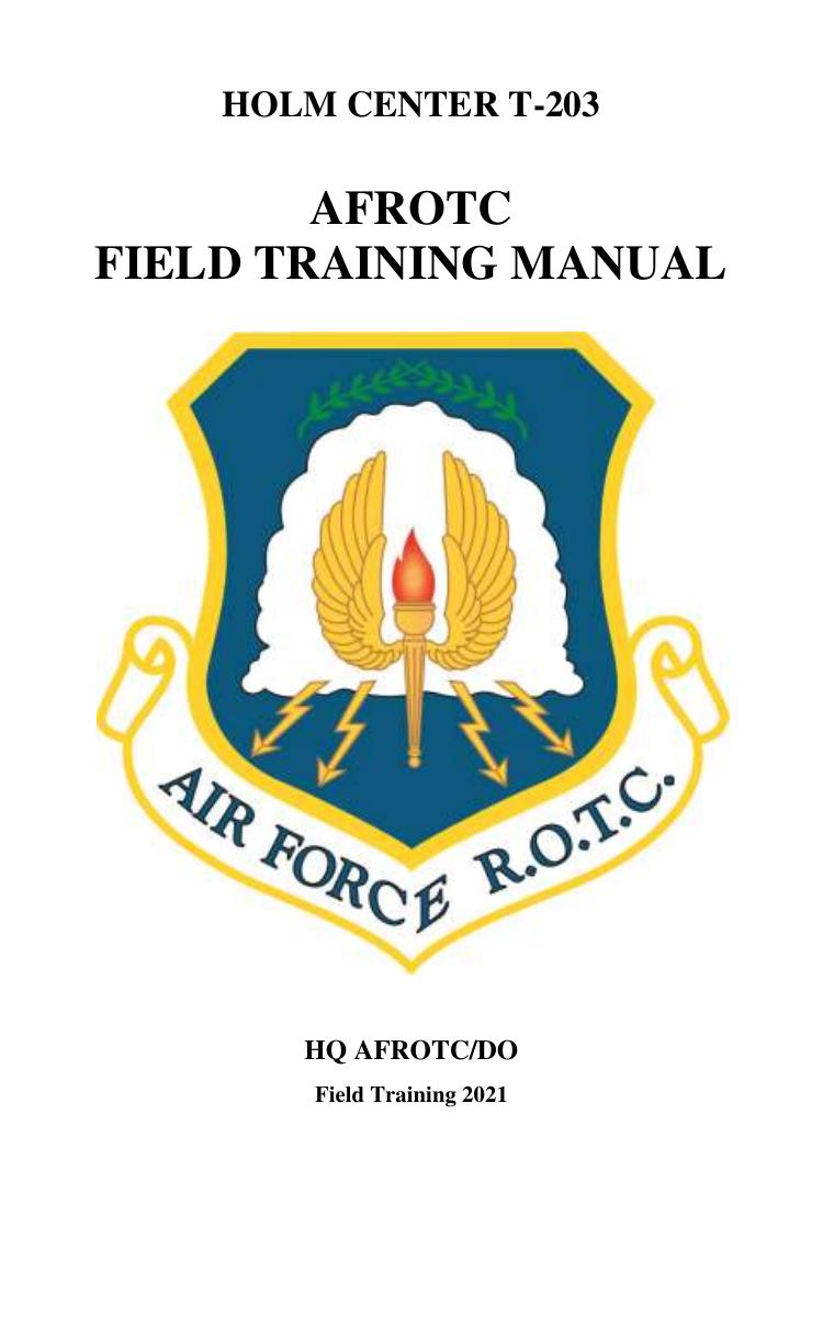 Afrotc Field Training Manual