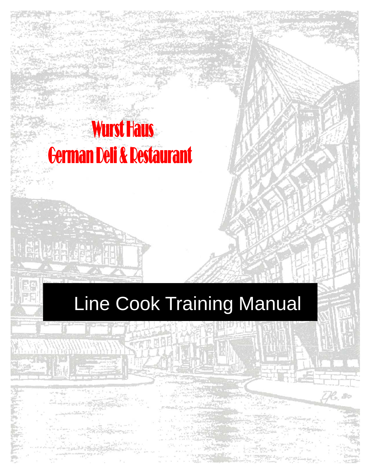 Line Cook Training Manual
