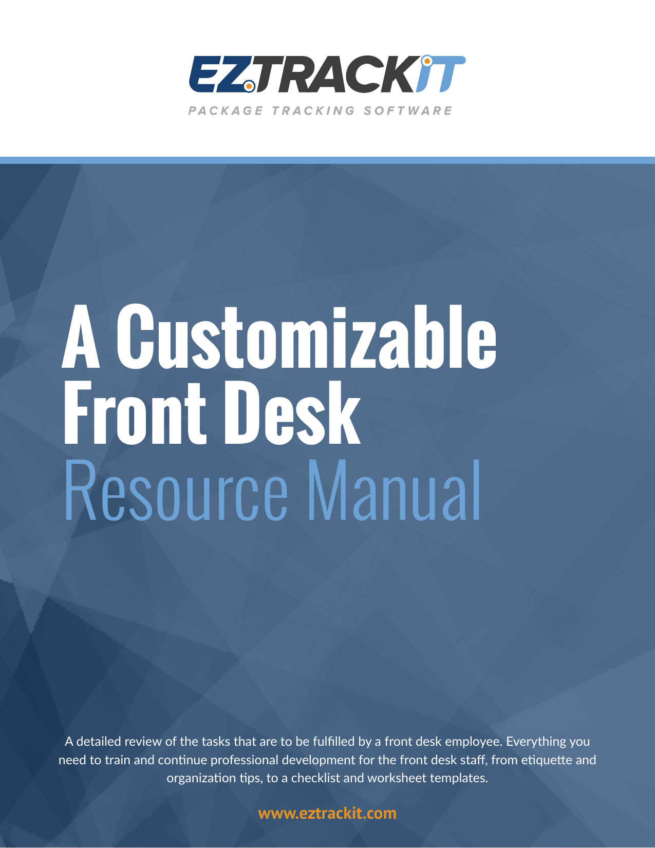 A Customizable Front Desk Resource Manual