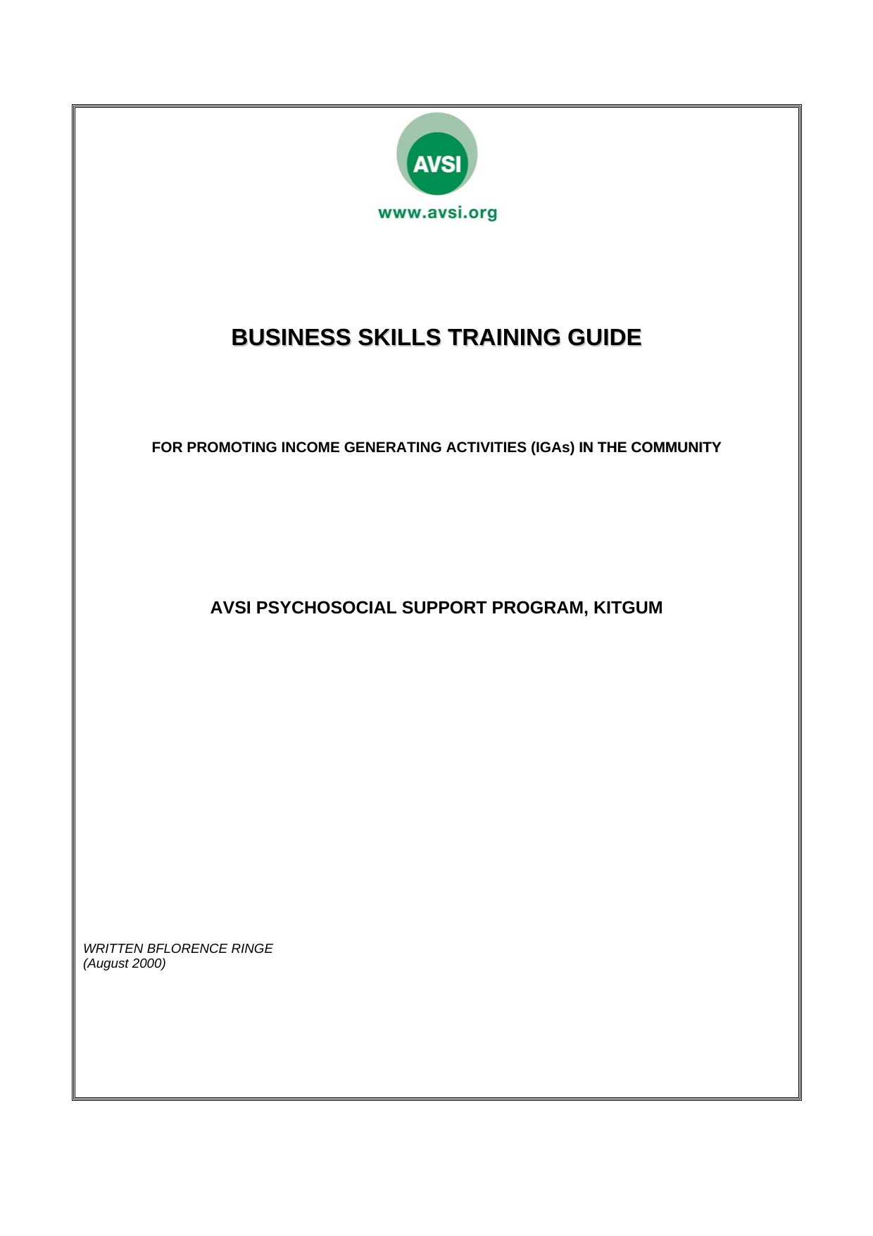 Business Skills Training Guide