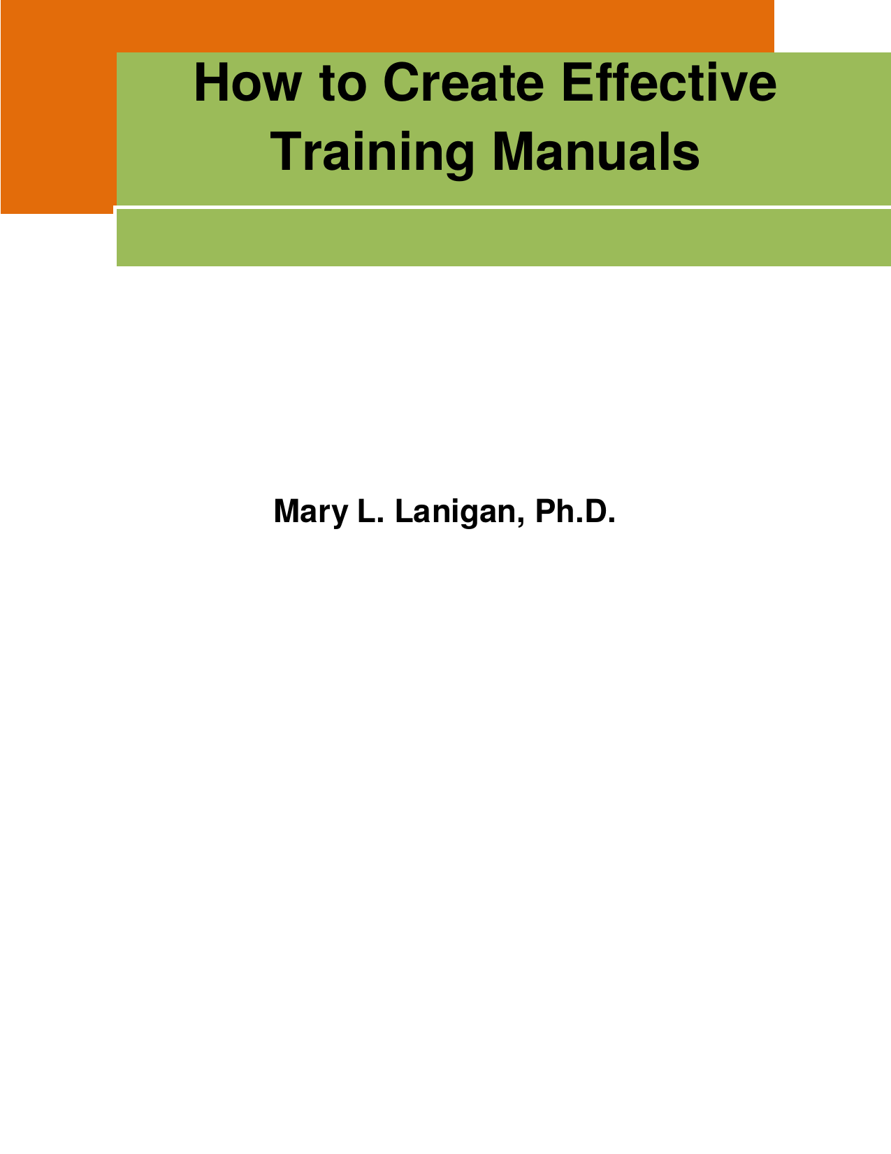 How To Create Effective Training Manuals
