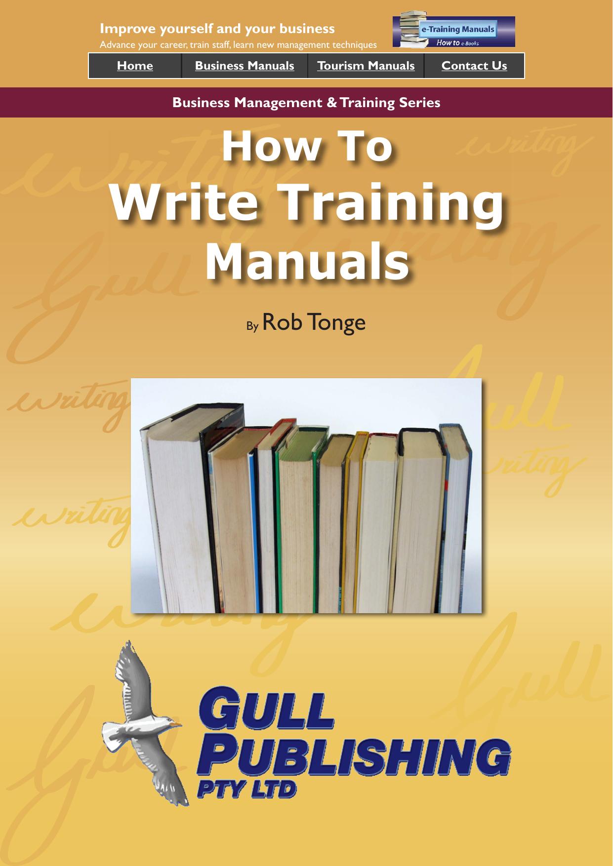 Write Training Manuals