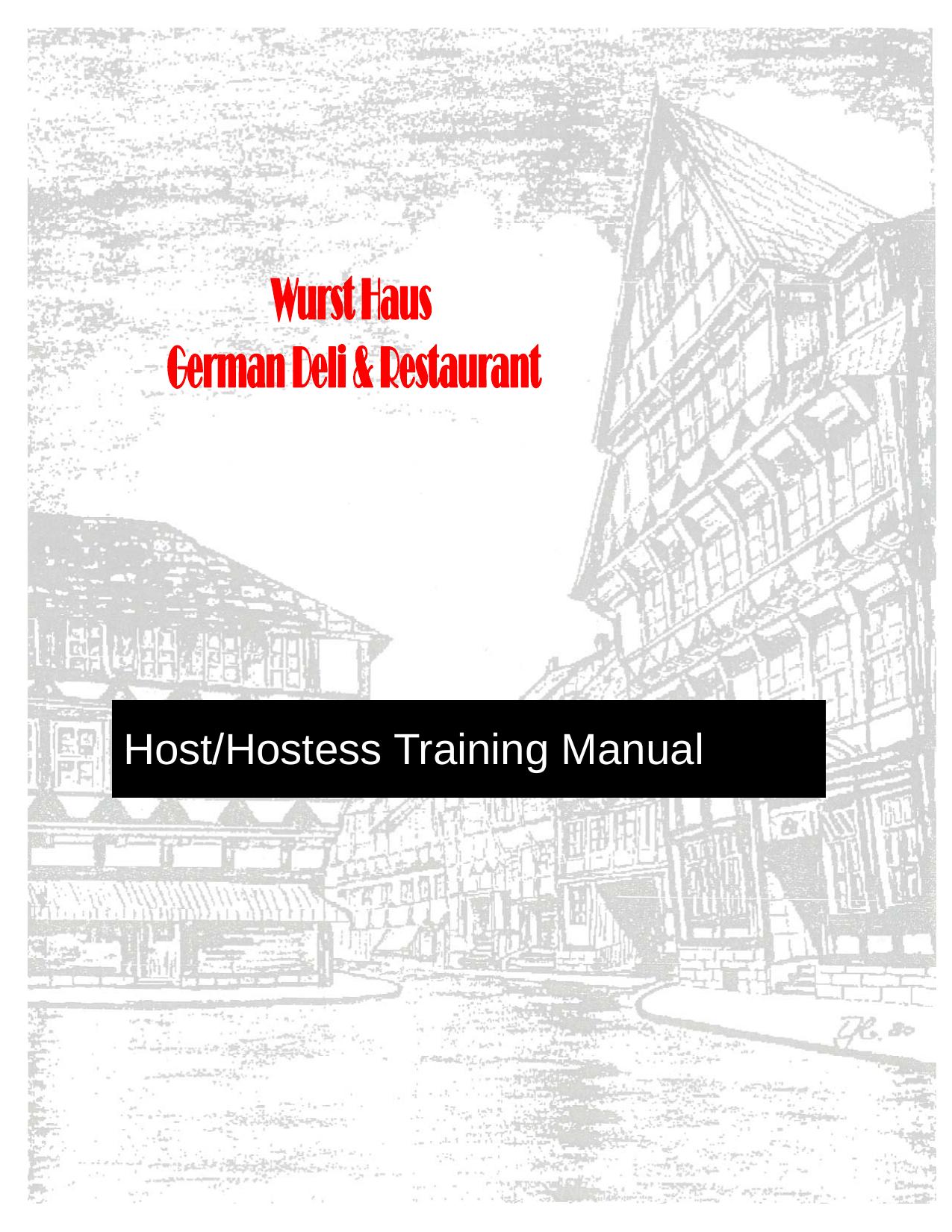 Host/hostess Training Manual