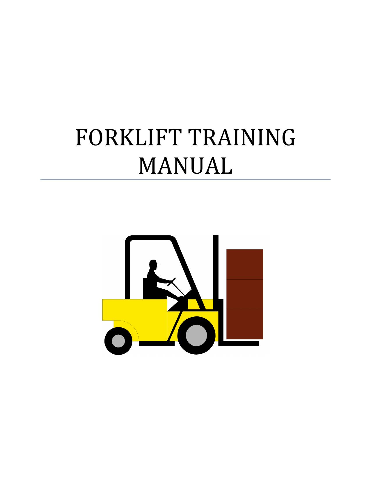 Forklift Training Manual