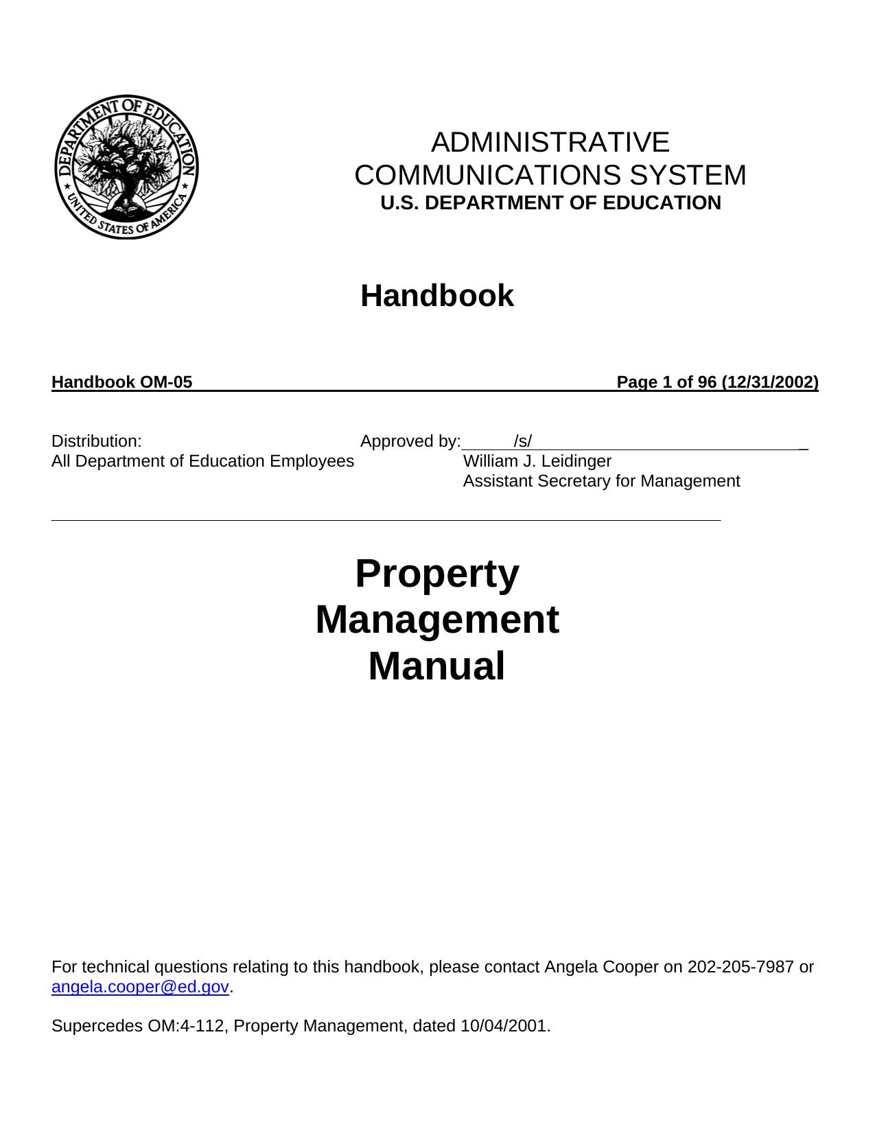 Handbook For Property Management